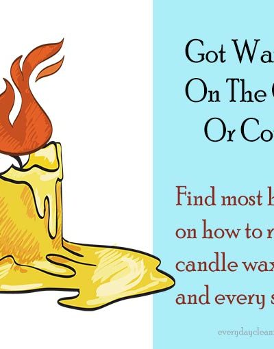 How To Get Candle Wax Out Of Carpet, Walls, And Clothes