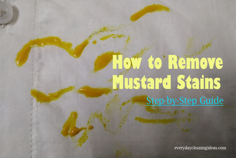 Remove Mustard Stains from Clothes, Carpets, Upholstery